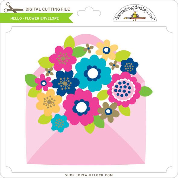 Hello - Flower Envelope