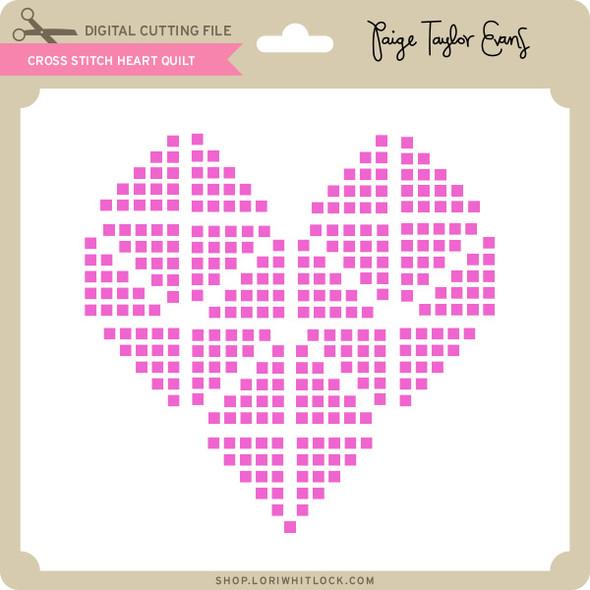 Cross Stitch Heart Quilt
