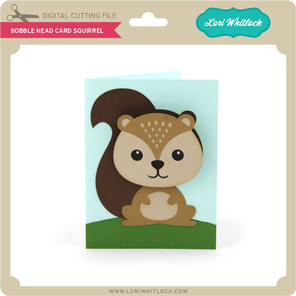 Bobble Head Card Squirrel
