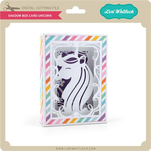 Shadow Box Card Unicorn