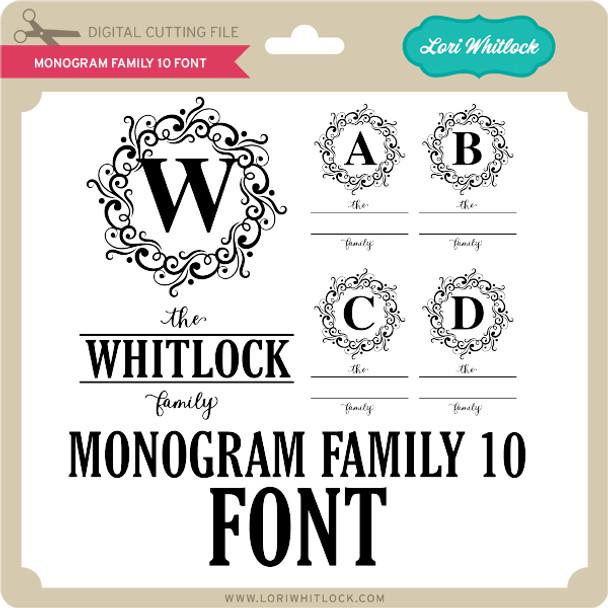 Monogram Family 10 Font