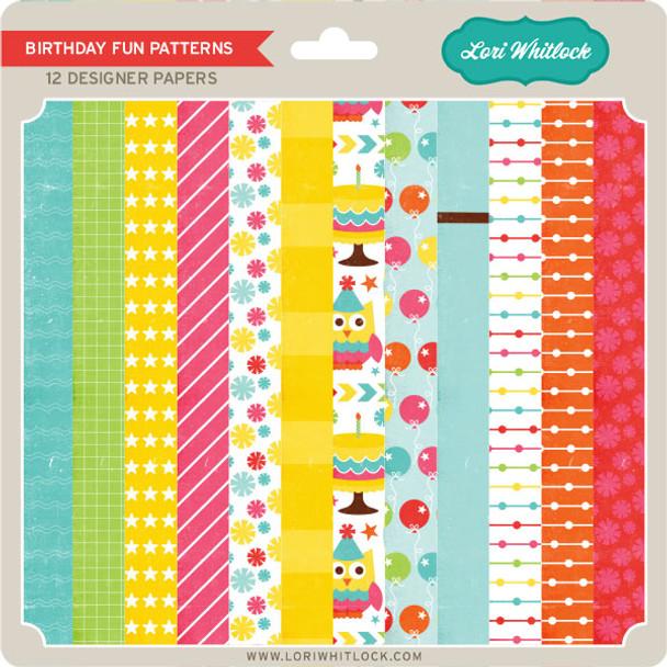Pattern Fill Set Birthday Fun