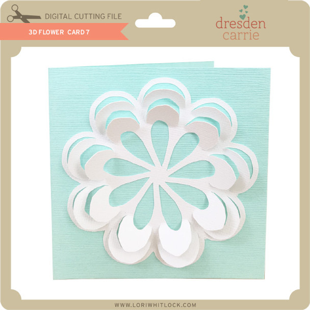 3D Flower Card 7