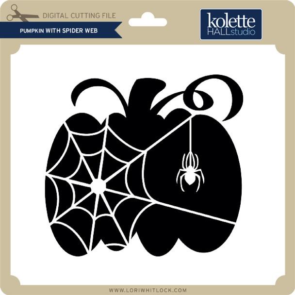 Pumpkin With Spider Web