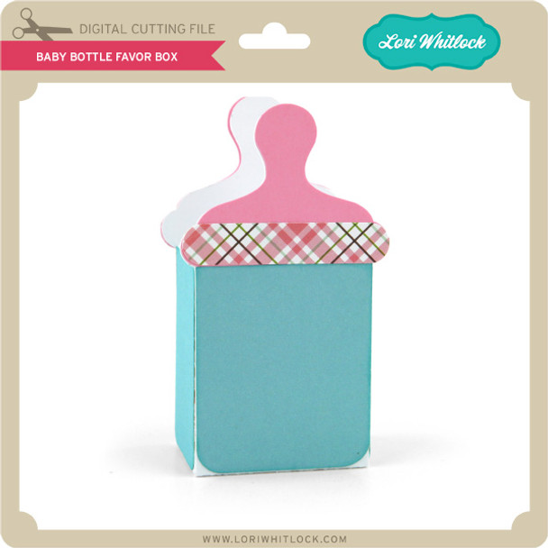 Baby Bottle Favor Box