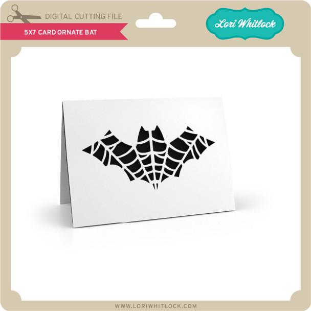 5x7 Card Ornate Bat