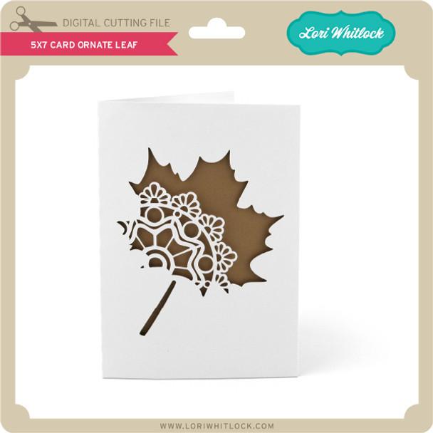 5x7 Card Ornate Leaf