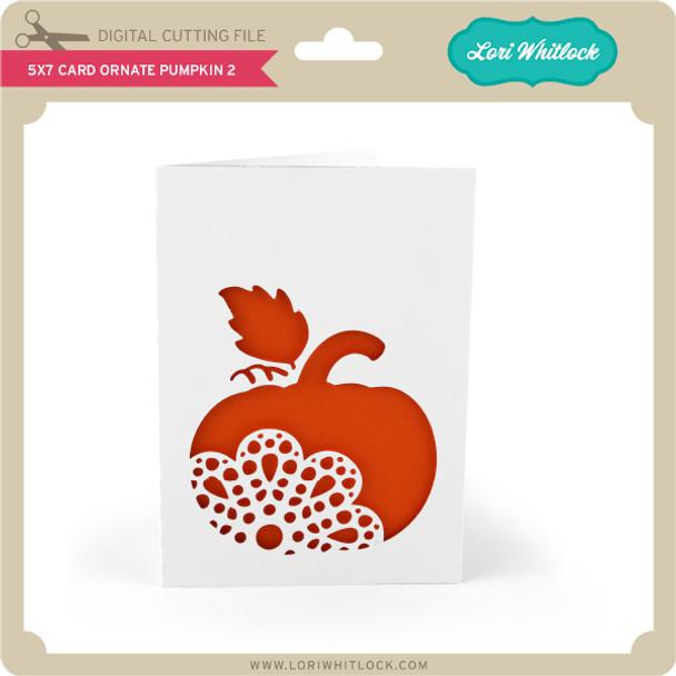 5x7 Card Ornate Pumpkin 2