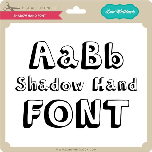 Shadow Hand Font