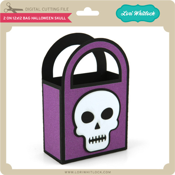 2 on 12x12 Bag Halloween Skull