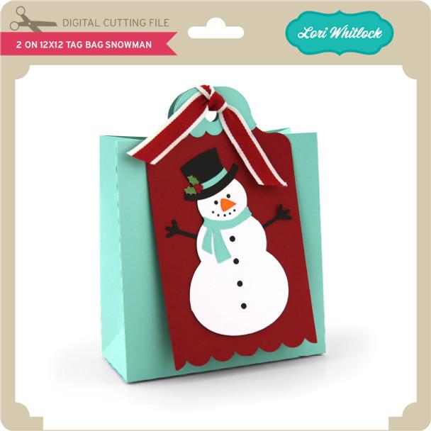2 on 12x12 Tag Bag Snowman