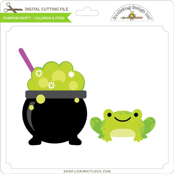 Pumpkin Party - Caldron & Frog