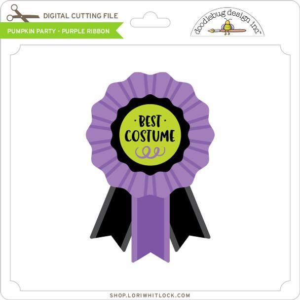 Pumpkin Party - Purple Ribbon