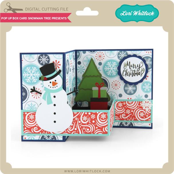 Pop Up Box Card Snowman Tree Presents