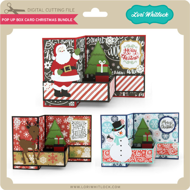 Pop Up Box Card Christmas Bundle