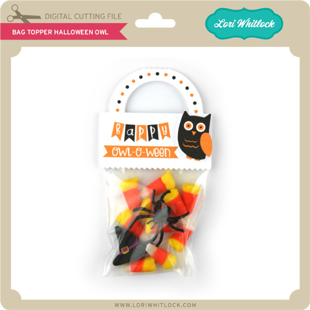 Bag Topper Halloween Owl