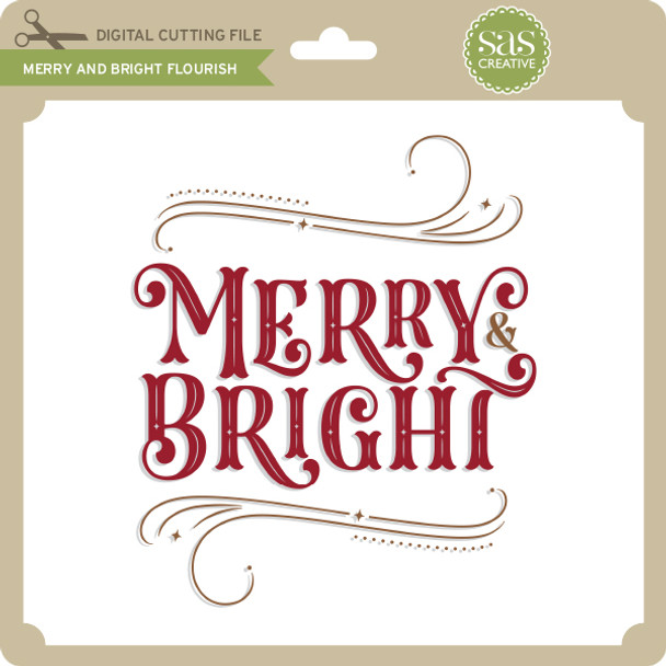 Merry and Bright Flourish 2