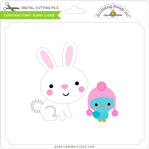 Christmas Town - Bunny & Bird