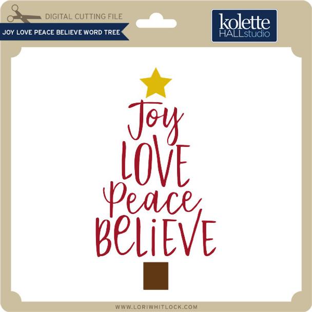 Joy Love Peace Believe Word Tree