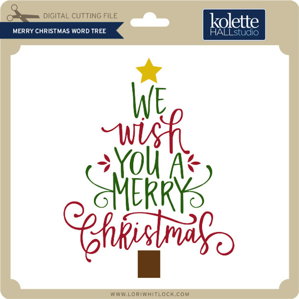 Merry Christmas Word Tree