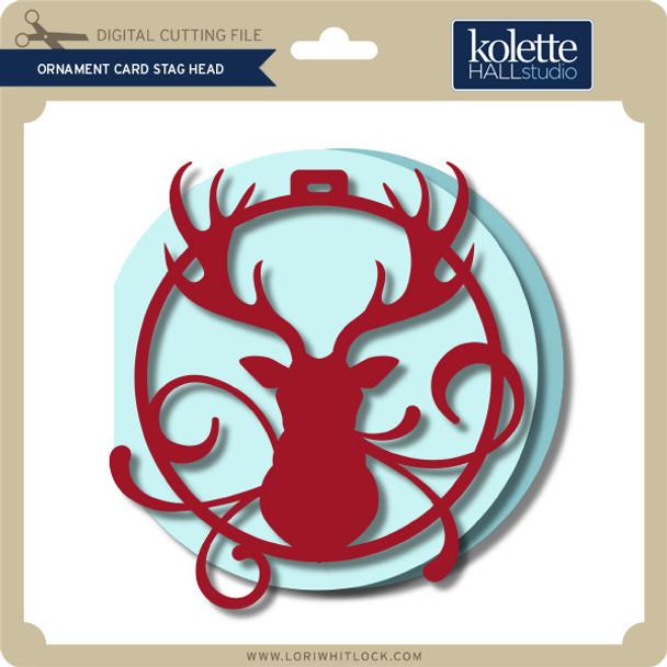 Ornament Card Stag Head