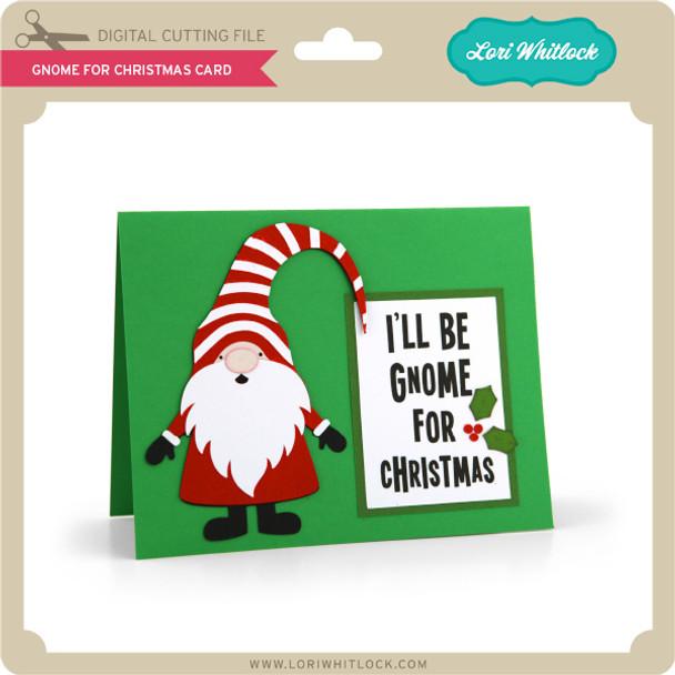 Gnome for Christmas Card