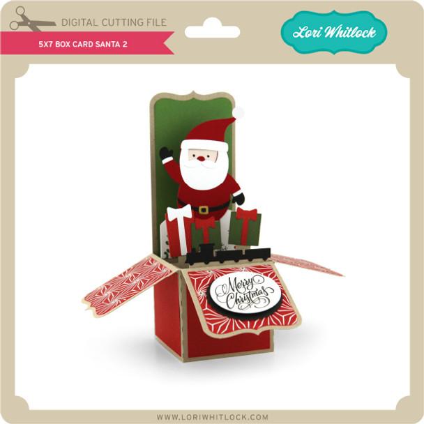 5x7 Box Card Santa 2