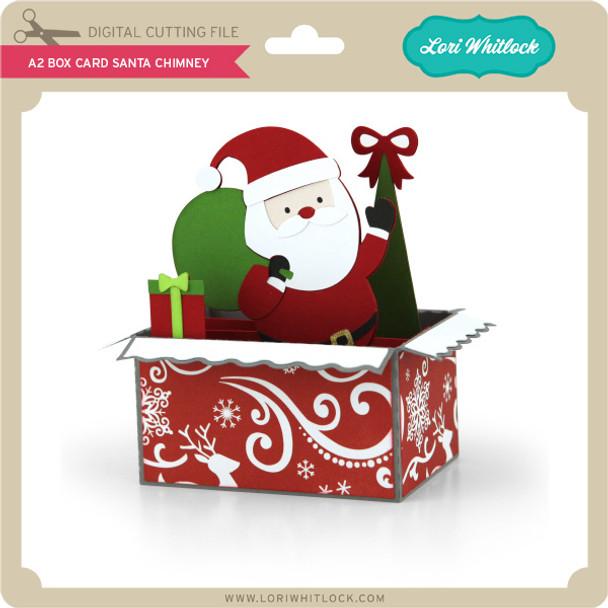 A2 Box Card Santa Chimney