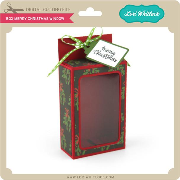 Box Merry Christmas Window