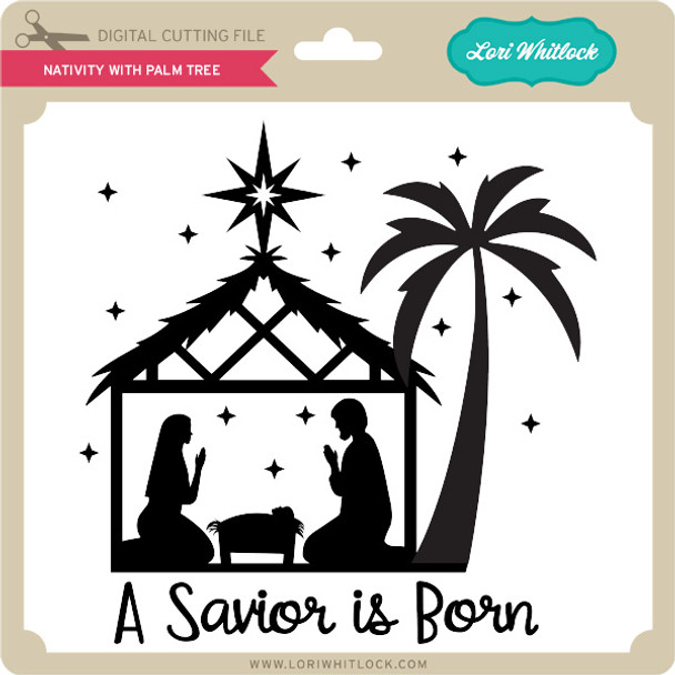 Nativity with Palm Tree