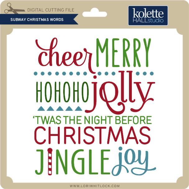 Subway Christmas Words