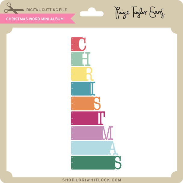 Christmas Word Mini Album