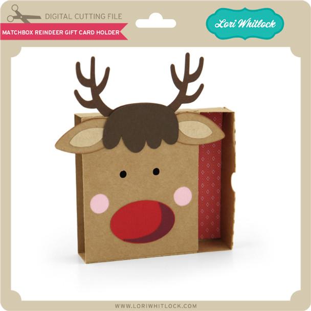 Matchbox Reindeer Gift Card Holder