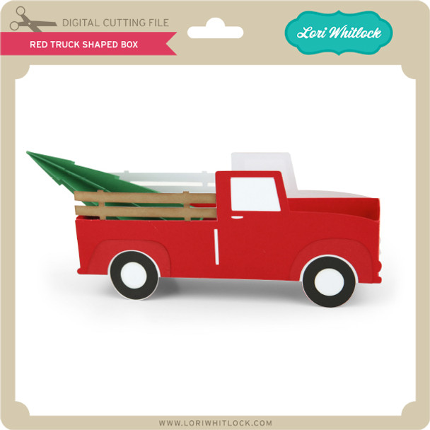 Red Truck Shaped Box