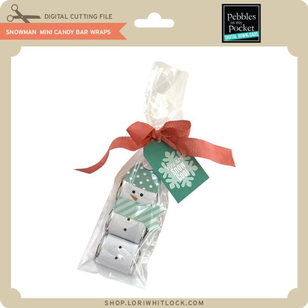 Snowman Mini Candy Bar Wraps