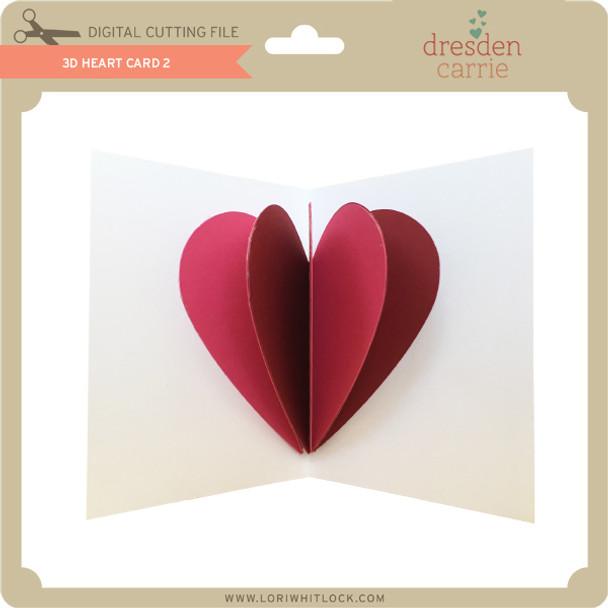 3D Heart Card 2
