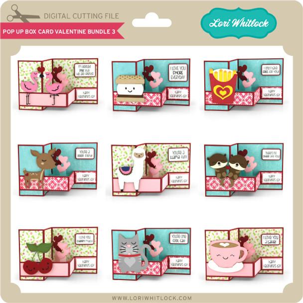 Pop Up Box Card Valentine Bundle 3