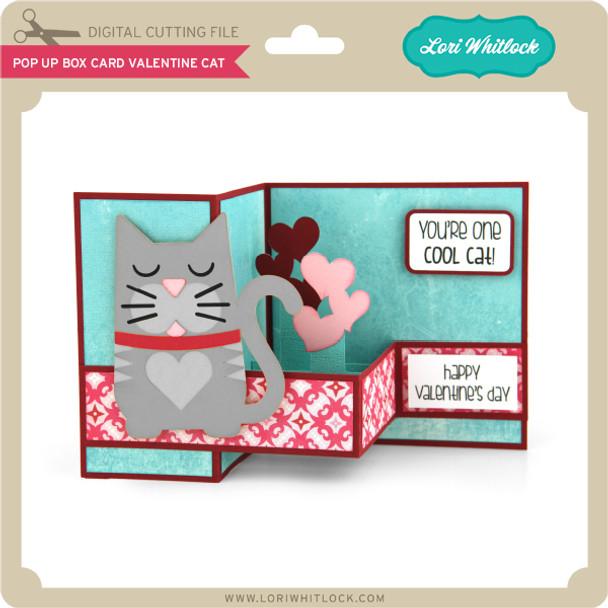 Pop Up Box Card Valentine Cat