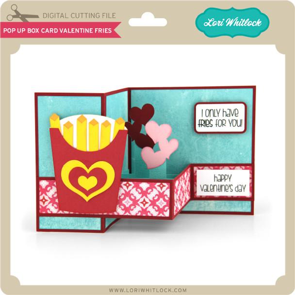 Pop Up Box Card Valentine Fries