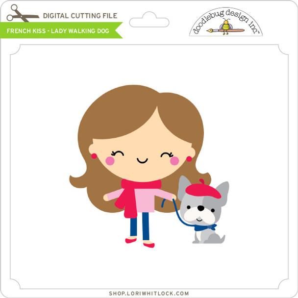 French Kiss - Lady Walking Dog