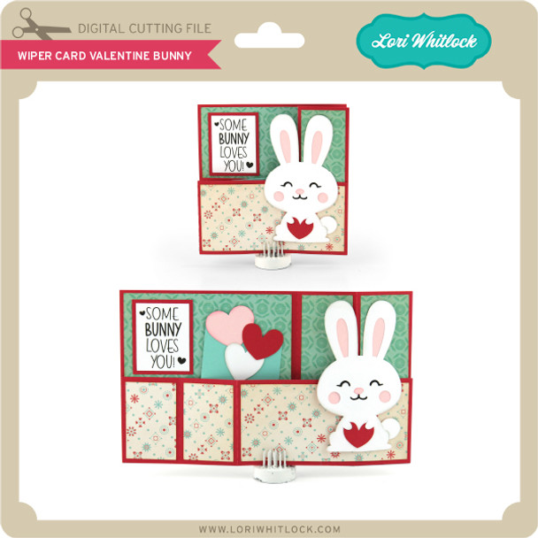 Wiper Card Valentine Bunny