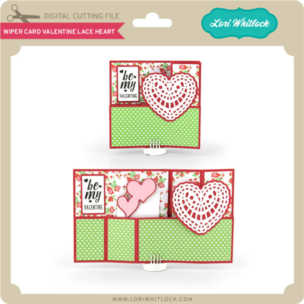 Wiper Card Valentine Lace Heart