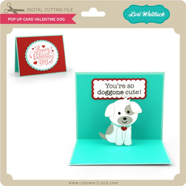 Pop Up Card Valentine Dog