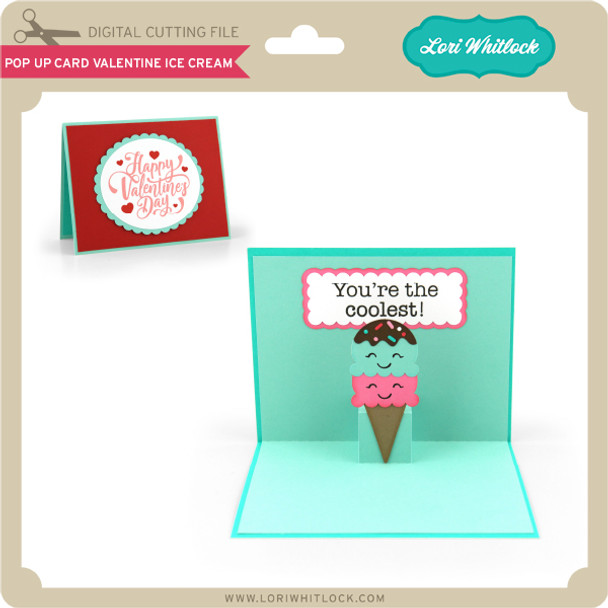 Pop Up Card Valentine Ice Cream