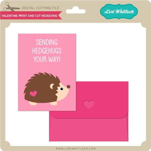 Valentine Print and Cut Hedgehog