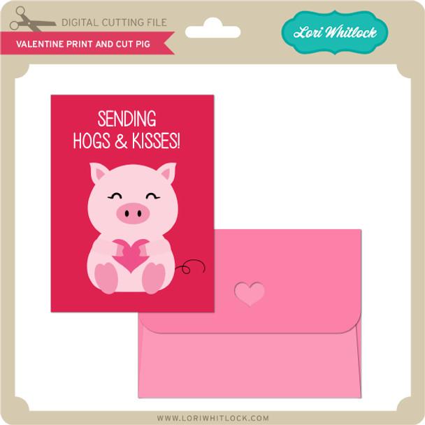 Valentine Print and Cut Pig