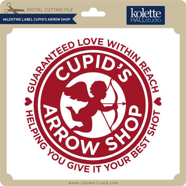 Valentine Label Cupid's Arrow Shop