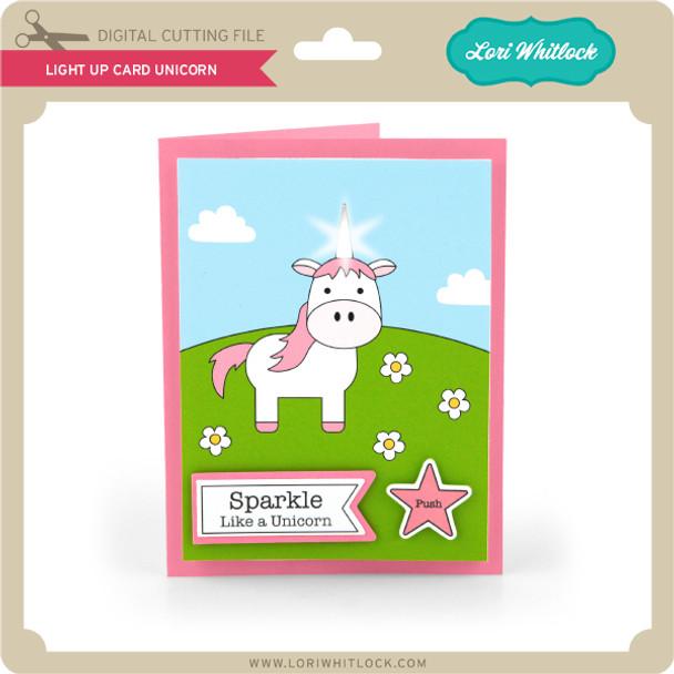 Light Up Card Unicorn
