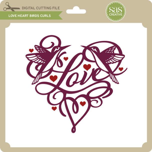 Love Heart Birds Curls