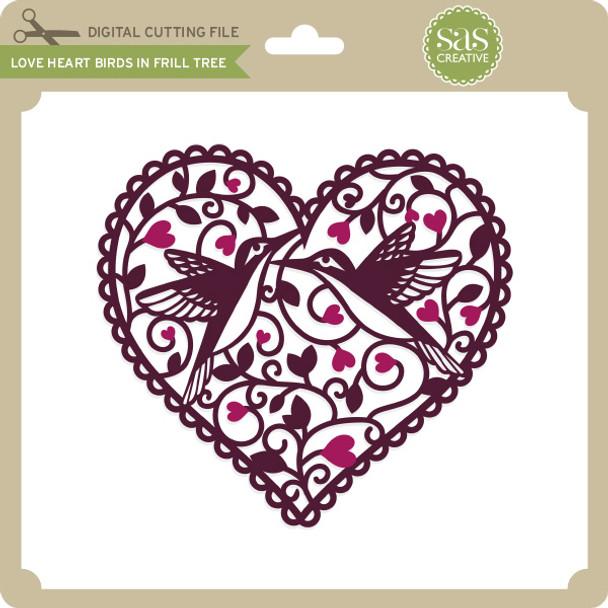 Love Heart Birds in Frill Tree
